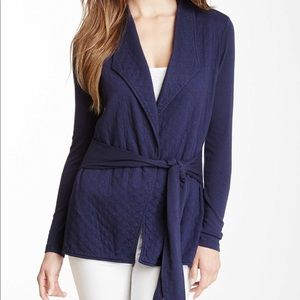 Three dots self tie open cardigan Size S